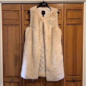 Knee Length Faux Fur Vest